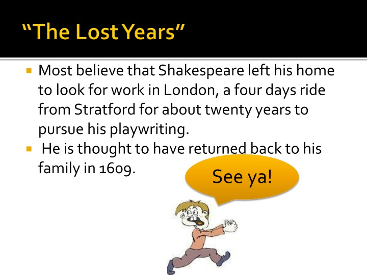 """""""The Lost Years"""""""