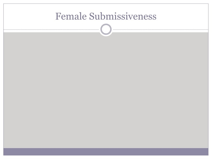 Female Submissiveness