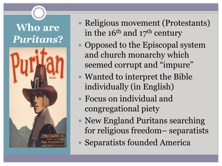 Religious movement (Protestants) in the 16