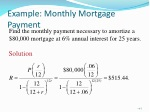 example monthly mortgage payment