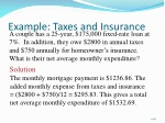 example taxes and insurance