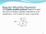 regular monthly payment