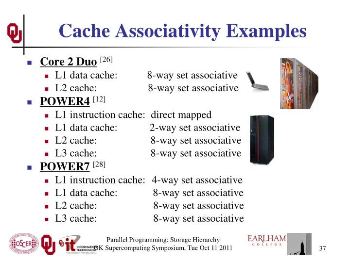 Cache Associativity Examples