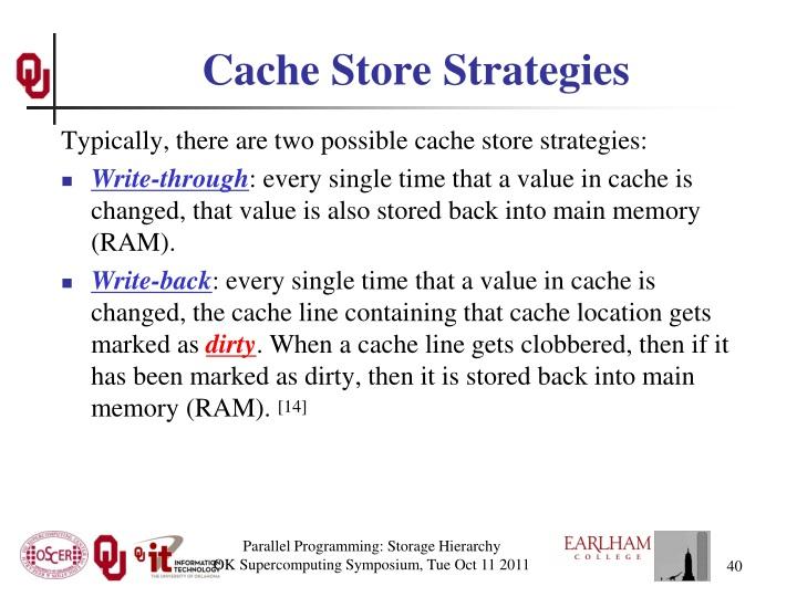 Cache Store Strategies