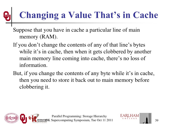 Changing a Value That's in Cache