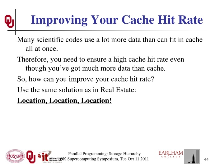 Improving Your Cache Hit Rate