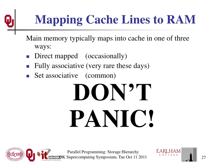 Mapping Cache Lines to RAM