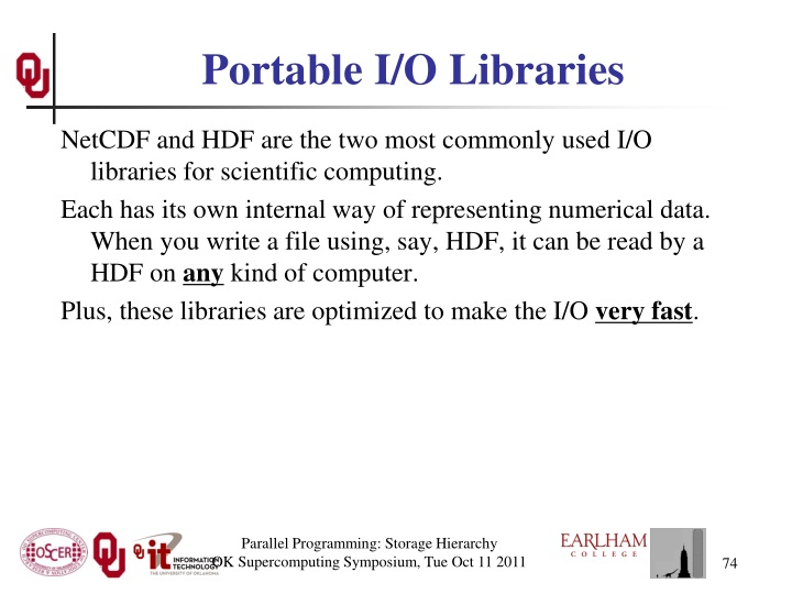 Portable I/O Libraries