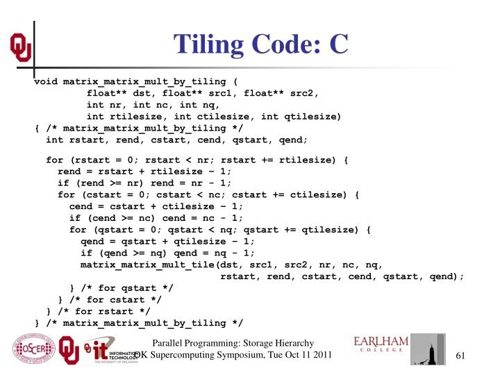 Tiling Code: C