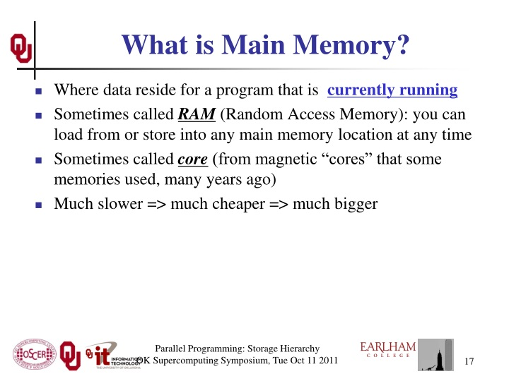 What is Main Memory?
