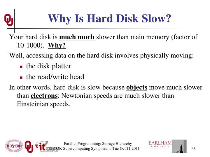 Why Is Hard Disk Slow?