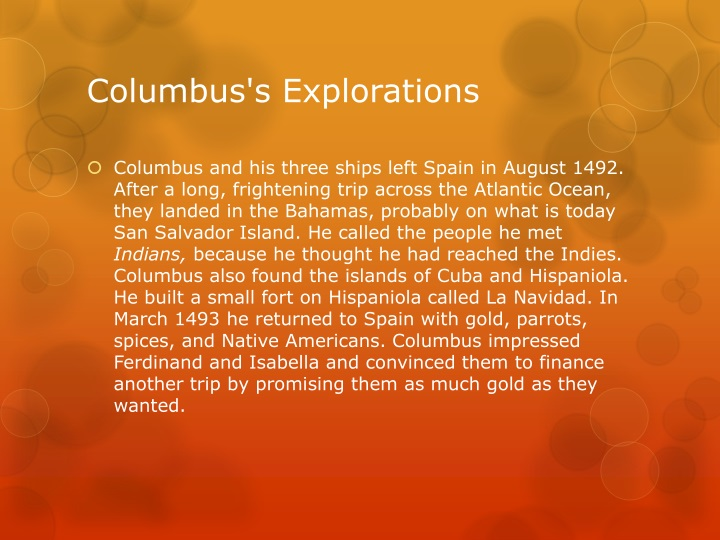 Columbus's Explorations