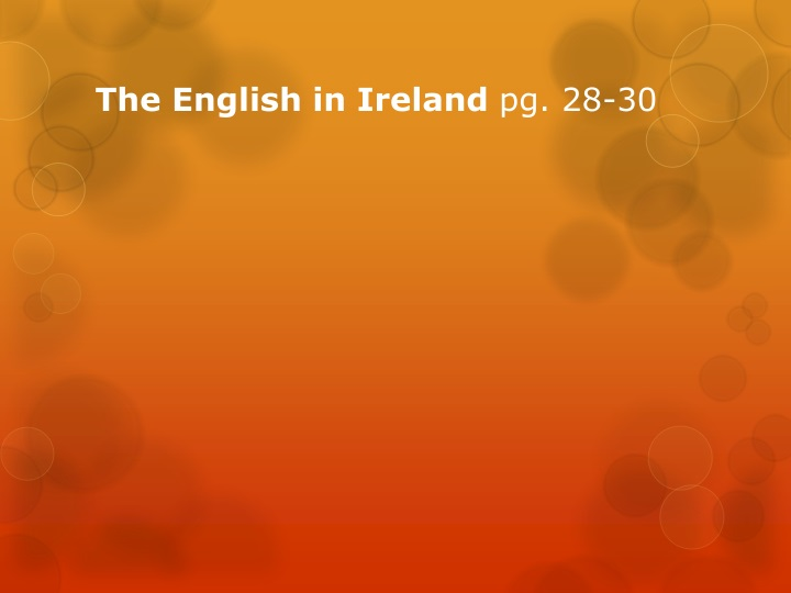 The English in Ireland
