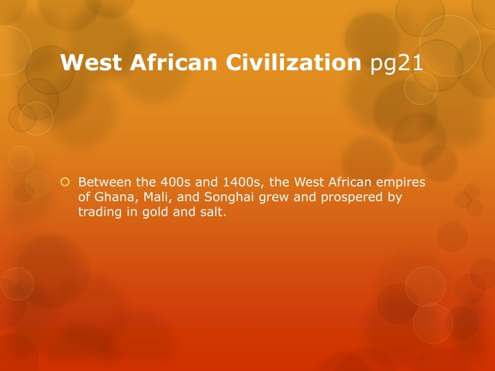 West African Civilization