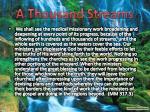 a thousand streams