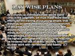 lay wise plans