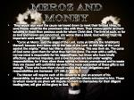 meroz and money