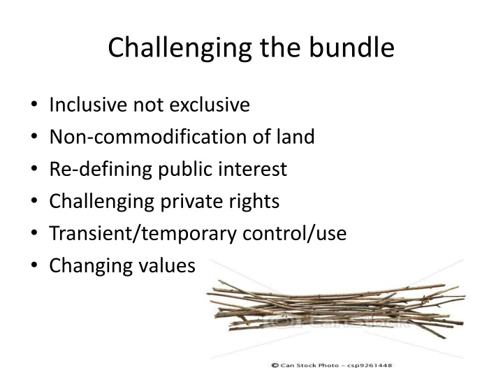 Challenging the bundle