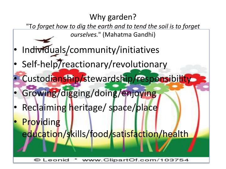 Why garden?
