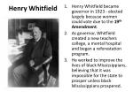 henry whitfield