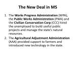 the new deal in ms