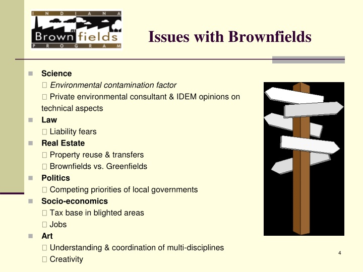 Issues with Brownfields