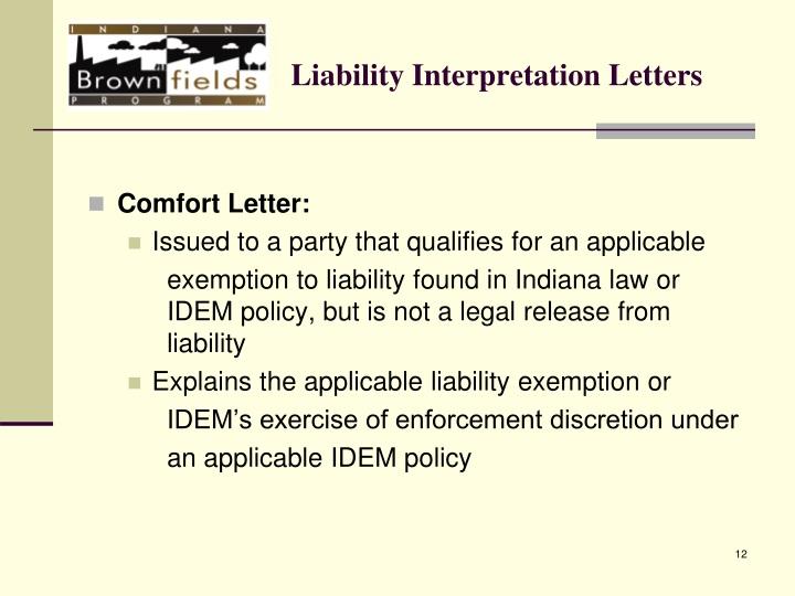 Liability Interpretation Letters