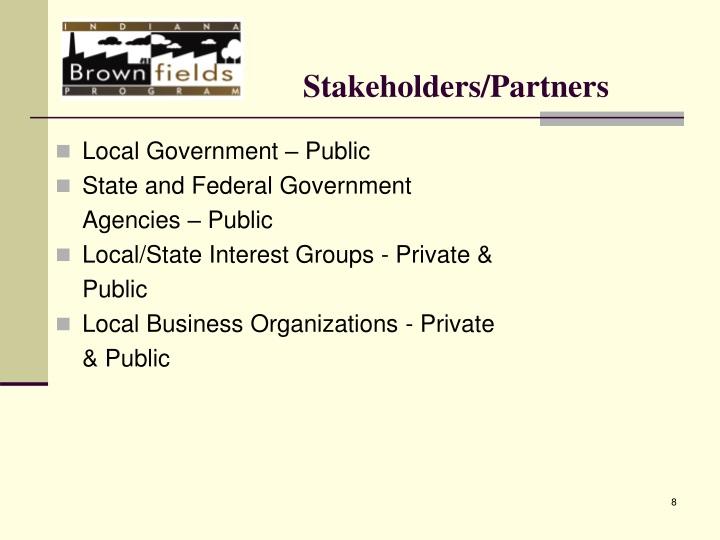 Stakeholders/Partners