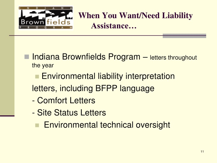 When You Want/Need Liability Assistance…