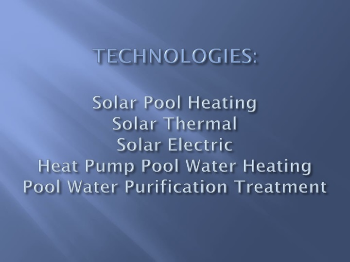 TECHNOLOGIES:
