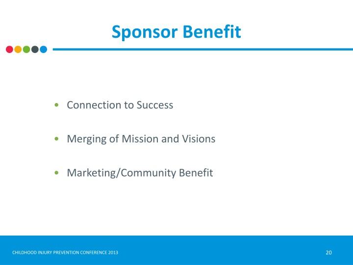 Sponsor Benefit