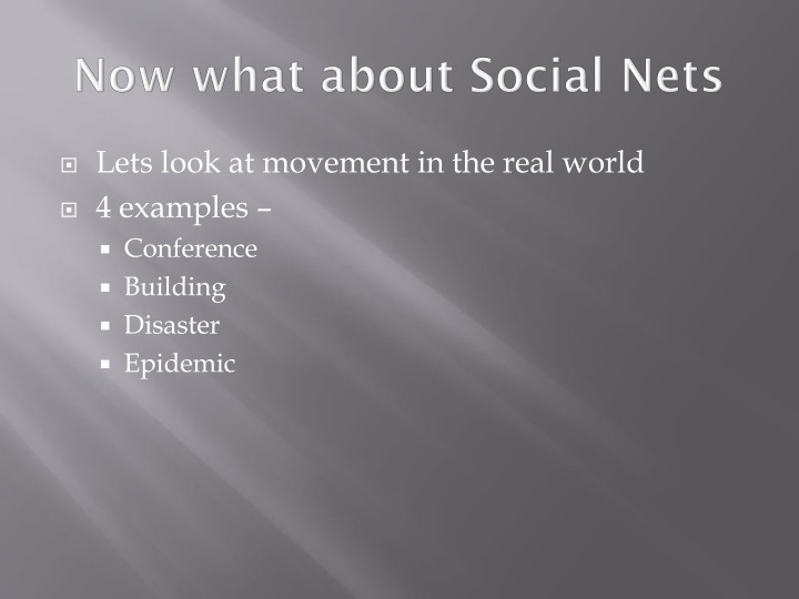 Now what about Social Nets