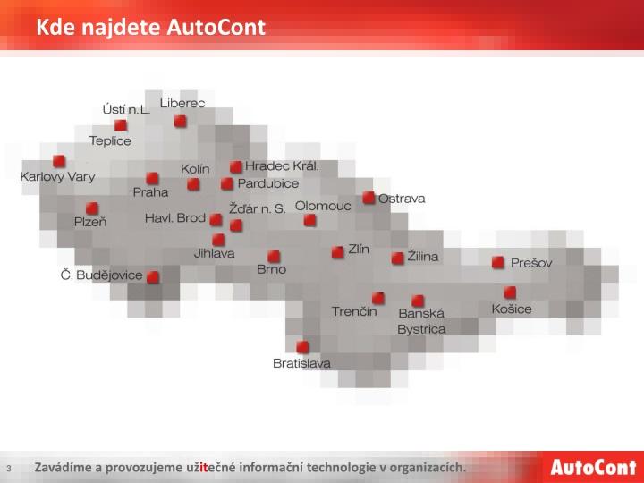 Kde najdete AutoCont