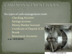 cash management tools income investments