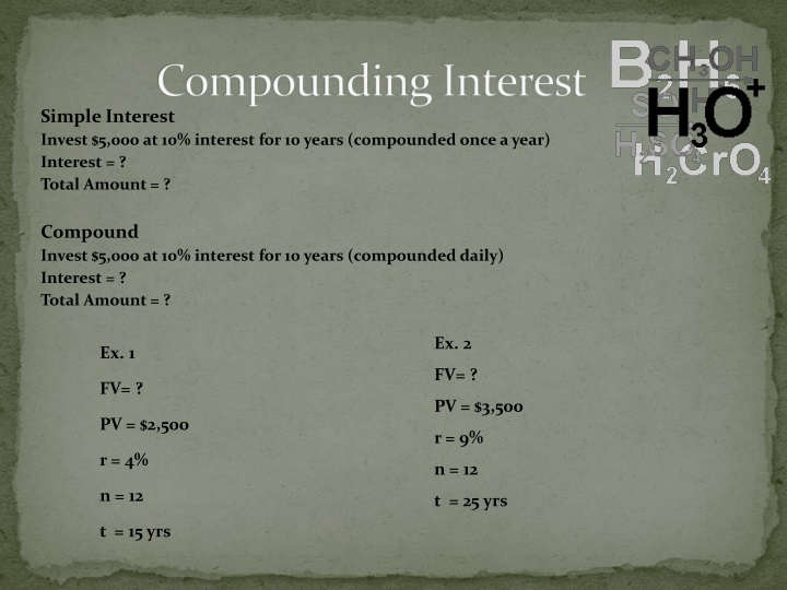 Compounding Interest