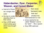 haberdasher dyer carpenter weaver and carpet maker