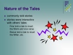 nature of the tales