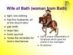wife of bath woman from bath