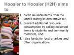 hoosier to hoosier h2h aims to