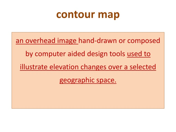 contour map