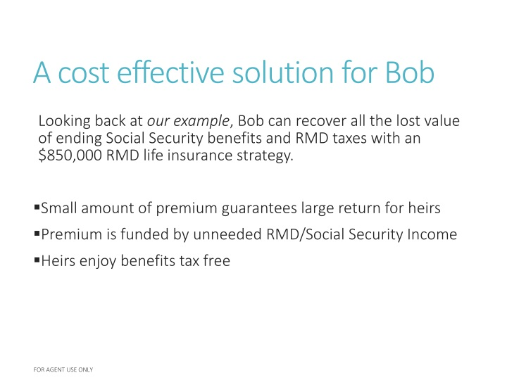 A cost effective solution for Bob