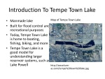 introduction to tempe town lake