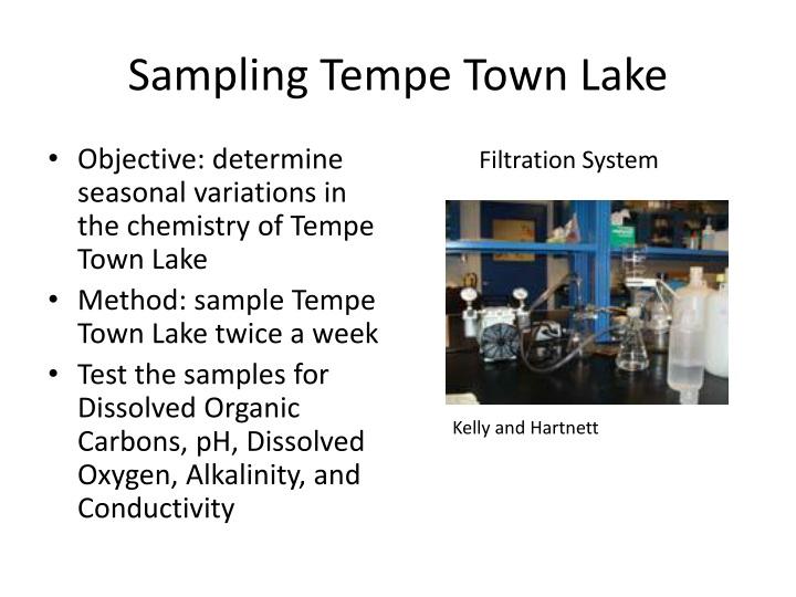 Sampling Tempe Town Lake