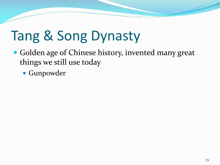 Tang & Song Dynasty