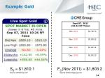 example gold