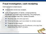 fraud investigation cash receipting1
