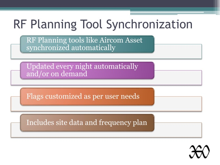 RF Planning Tool Synchronization