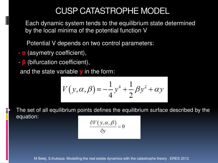 CUSP CATASTROPHE MODEL