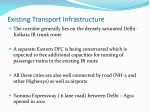 existing transport infrastructure