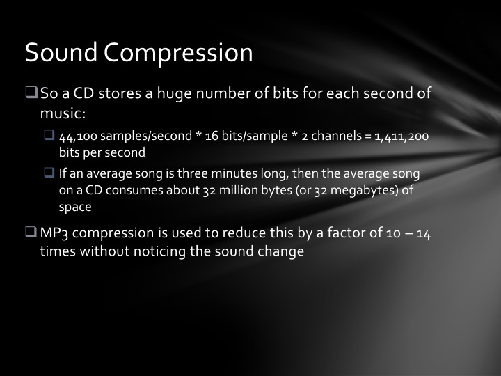 Sound Compression